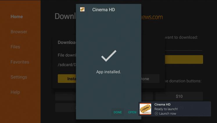 Install Cinema APK on Firestick