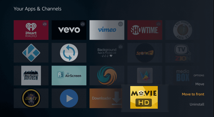 Install Movie HD App on Firestick
