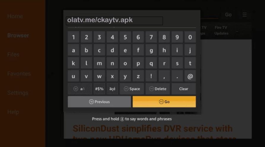 Install CkayTV APK on Firestick